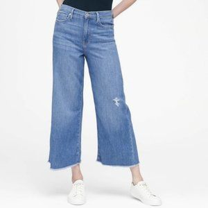 Banana Republic High-Rise Wide-Leg Cropped Jean